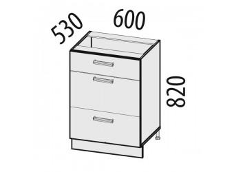 Шкаф кухонный напольный Тропикана 17.91 (с системой плавного закрывания)