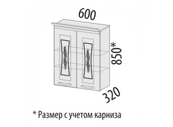 Навесной кухонный шкаф Виктория 20.06