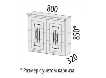Навесной кухонный шкаф Виктория 20.11