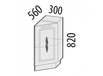 Шкаф кухонный угловой Виктория 20.64 правый (торцевой)