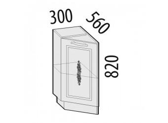 Шкаф кухонный угловой Виктория 20.65 левый (торцевой)