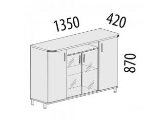 Тумба-витрина Лидер 83.22