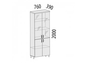 Шкаф-витрина Лидер 83.23 для сувениров