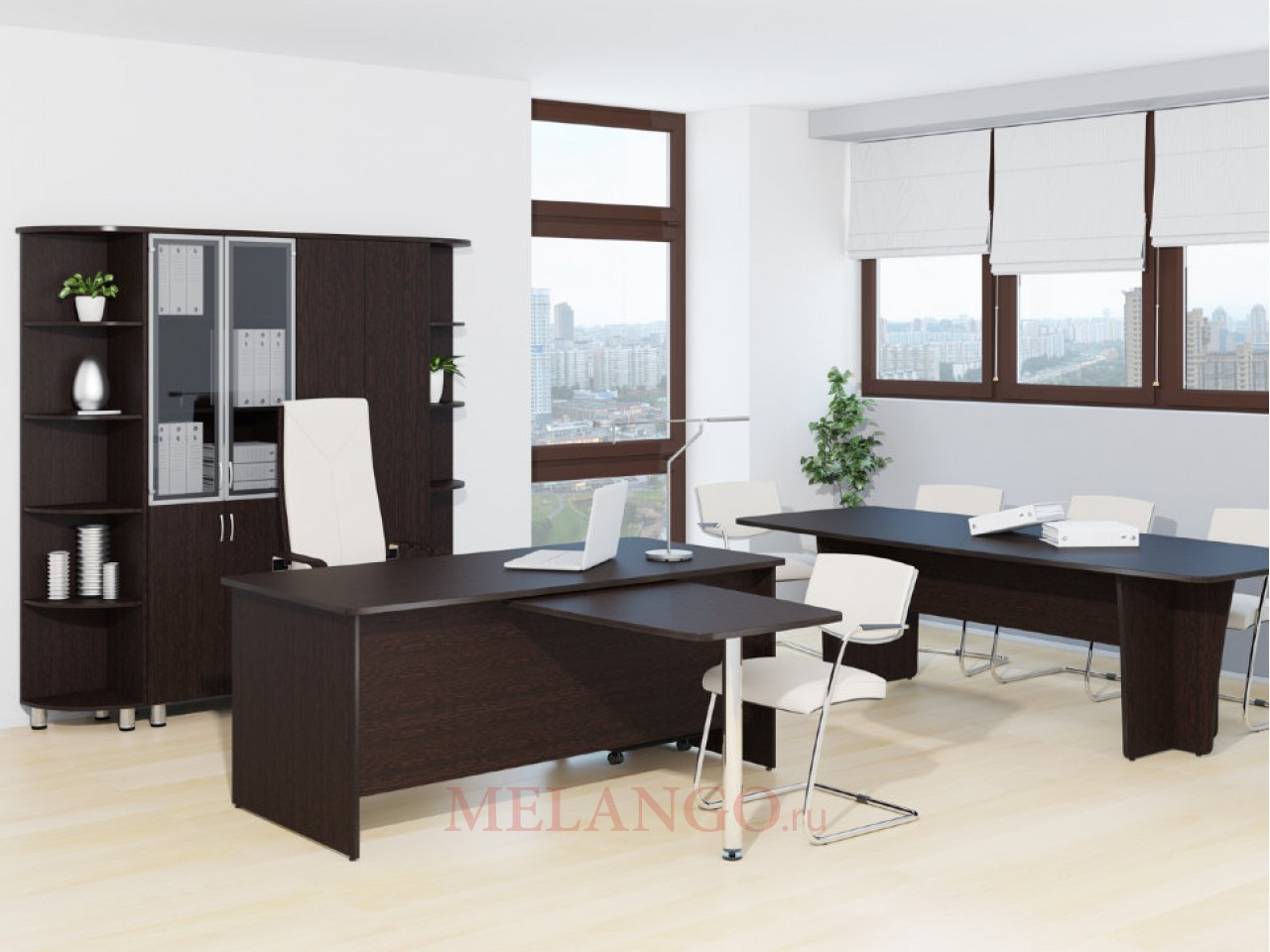 Набор мебели для офиса Лидер-Престиж 4