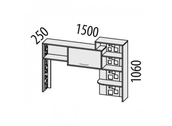 Надстройка для компьютерного стола Мегаполис 55.25