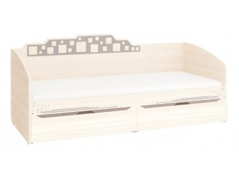 Односпальная кровать Мегаполис 55.11 с выдвижными ящиками