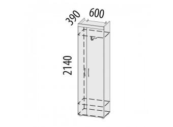 Шкаф для одежды Мэри 39.01 универсальный