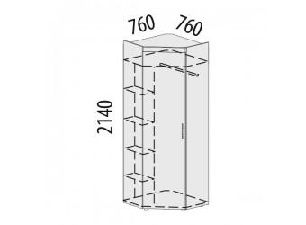 Угловой шкаф для одежды Мэри 39.04 левый
