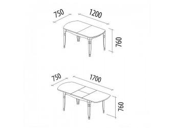 Раздвижной обеденный стол Орфей 25.10