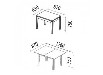 Раздвижной обеденный стол Орфей 26.10 лайт сосна астрид