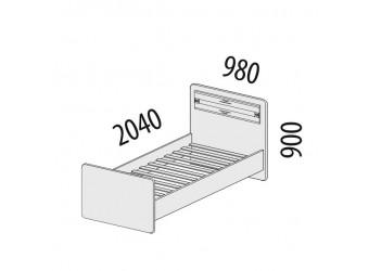 Односпальная кровать Ривьера 95.23