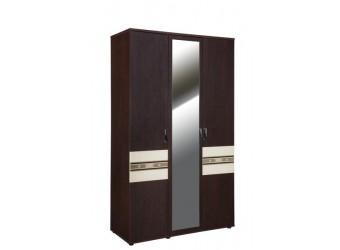 Трехстворчатый шкаф для одежды с зеркалом Ривьера 95.12
