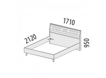 Двуспальная кровать Розали 96.01