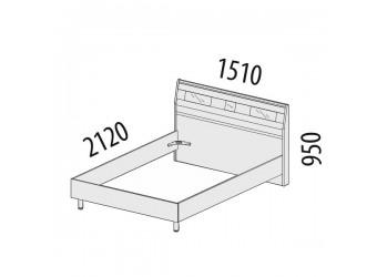 Двуспальная кровать Розали 96.02