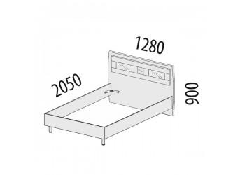 Односпальная кровать Розали 96.03.1
