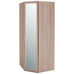 Угловой шкаф для одежды с зеркалом Розали 96.09 правый