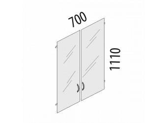 Стеклянные дверцы для шкафа Рубин 41.38