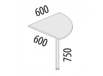 Угловая приставка для стола Рубин 42.12