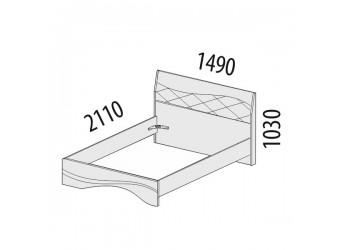 Двуспальная кровать Соната 98.02.1