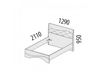 Односпальная кровать Соната 98.03.1