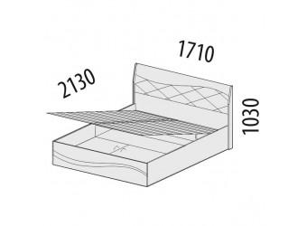 Двуспальная кровать Соната 98.21.1 с подъемным механизмом
