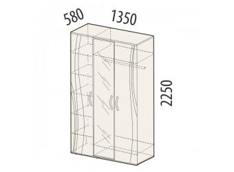 Трехстворчатый шкаф для одежды с зеркалом Соната 98.12