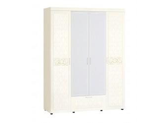 Четырехстворчатый шкаф для одежды с зеркалом Тиффани 93.14