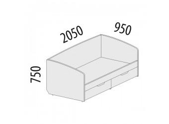 Односпальная кровать Тиффани 93.05 с выдвижными ящиками