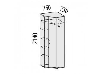 Угловой шкаф для одежды Триумф 36.02 правый