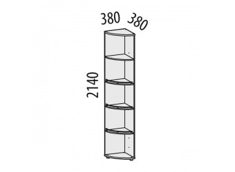 Угловой стеллаж Триумф 36.04 левый