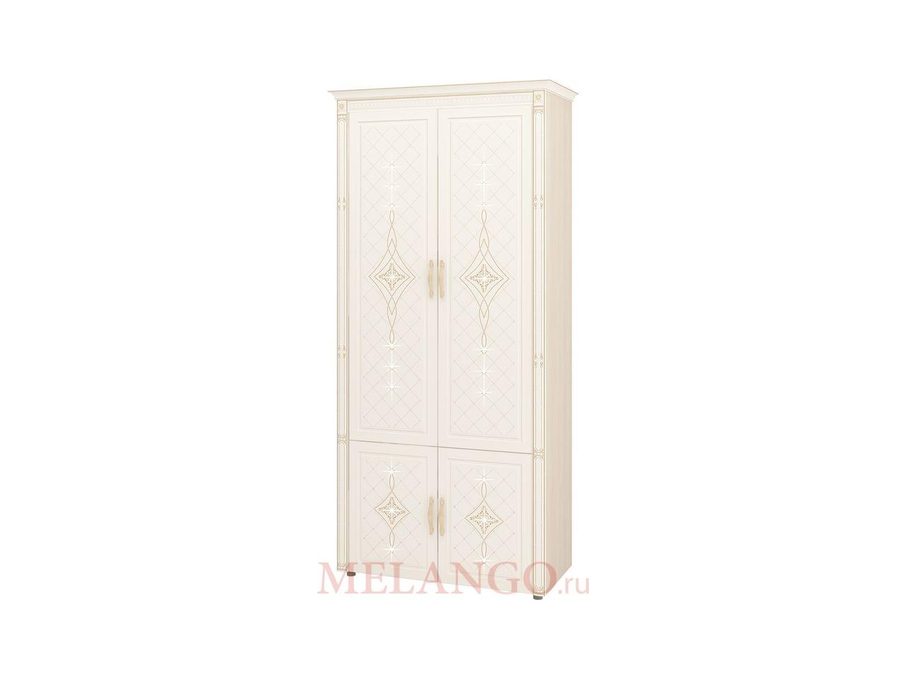 Шкаф для одежды Венеция 32.22 с колоннами многофункциональный