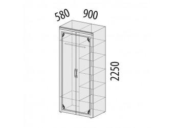 Двухстворчатый шкаф для одежды Версаль 99.13 многофункциональный