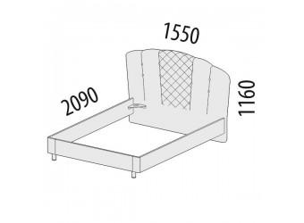 Двуспальная кровать Версаль 99.02