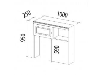 Надстройка Версаль 99.27 для компьютерного стола