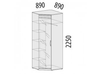 Угловой шкаф для одежды с зеркалом Версаль 99.09 левый