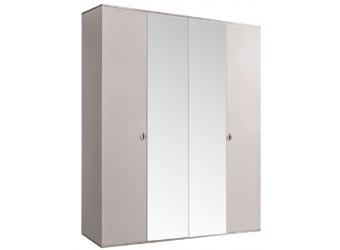 Четырехстворчатый шкаф для одежды с зеркалом Rimini РМШ1/4 (слоновая кость)