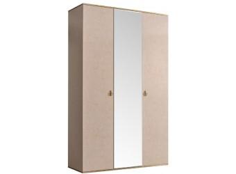 Трехстворчатый шкаф для одежды с зеркалом Rimini РМШ1/3(латте)