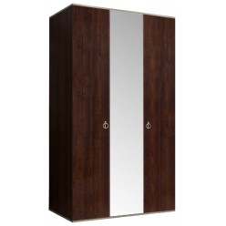 Трехстворчатый шкаф для одежды с зеркалом Rimini РМШ1/3(орех орегон)