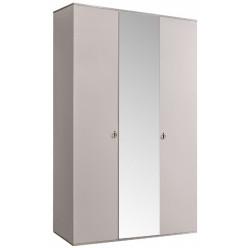 Трехстворчатый шкаф для одежды с зеркалом Rimini РМШ1/3(слоновая кость)