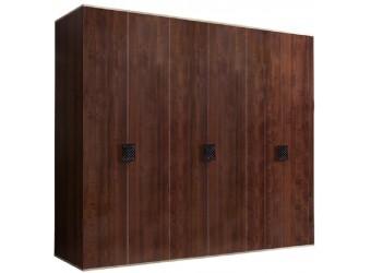 Шестистворчатый шкаф для одежды Diora ДШ2/6 (орех орегон)