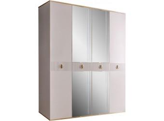 Четырехстворчатый шкаф для одежды с зеркалом Rimini Solo РМШ1/4 (s) (слоновая кость)