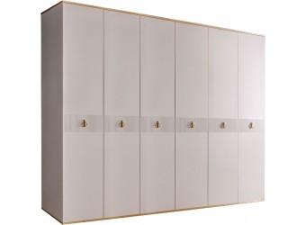 Шестистворчатый шкаф для одежды  Rimini Solo РМШ2/6 (s) (слоновая кость)