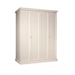 Четырехстворчатый шкаф для одежды Амели АМШ2/4 (штрих-лак)