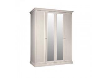 Четырехстворчатый шкаф для одежды с зеркалом Амели АМШ1/4 (штрих-лак)