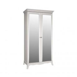 Двухстворчатый шкаф для одежды с зеркалом Амели АМШ1/2 (дуб)