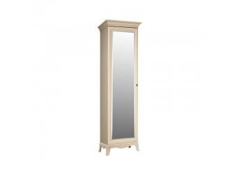 Одностворчатый шкаф для одежды с зеркалом Амели АМШ1/1 (штрих-лак)