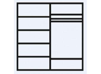 Четырехстворчатый шкаф для одежды с зеркалом Анна АНШ1/4 с шелкографией