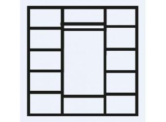 Четырехстворчатый шкаф для одежды Челси Элеганс ЧШ2/4(Э) (орех, розовый)