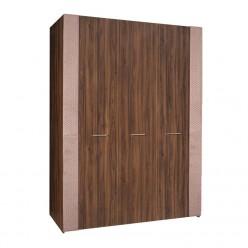 Трехстворчатый шкаф для одежды Челси Элеганс ЧШ2/3(Э) (орех, розовый)