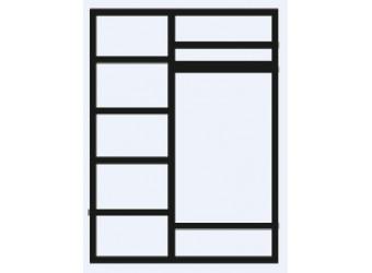 Трехстворчатый шкаф для одежды с зеркалом Челси ЧШ1/3
